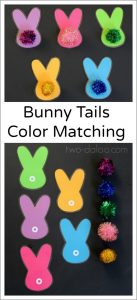Bunny Tails Matching Activity from Toodaloo