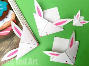 Easter Bunny Corner Bookmarks from Red Ted Art